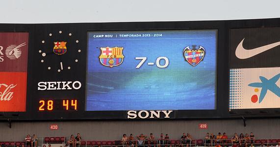 Las goleadas de Barcelona y Real Madrid son consideradas consecuencia de la 'Liga de Mierda'/ FCB