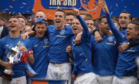 En su primer año tras ser refundado, el Rangers se proclamó campeón de la Third Division/ Getty Images