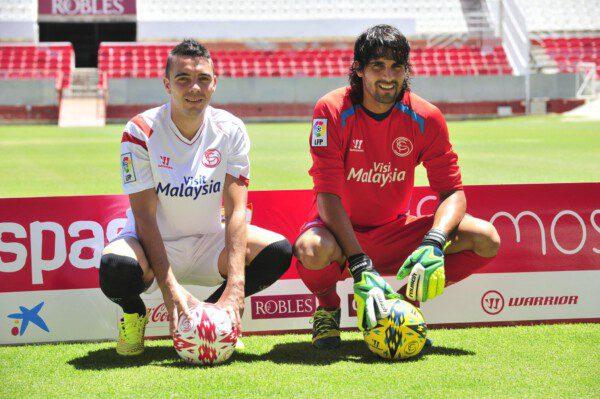 Iago Aspas y Mariano Barbosa, dos nuevas caras en el Sevilla/ Kiko Hurtado