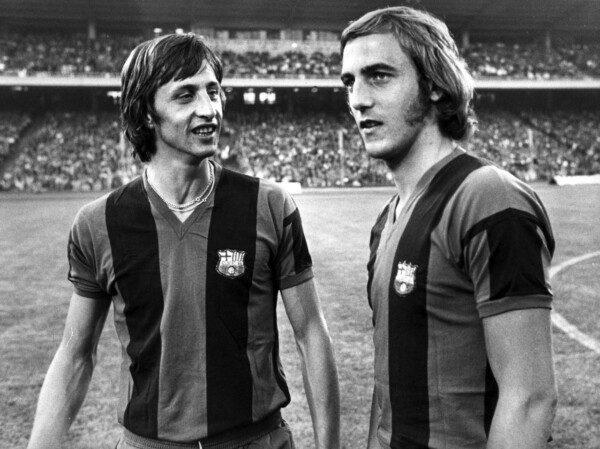 Cruyff y Neeskens inauguraron la 'conexión Ajax-Barcelona'/ EUSM