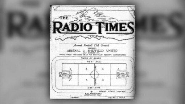 El primer partido radiado fue un Arsenal-Sheffield United/ BBC