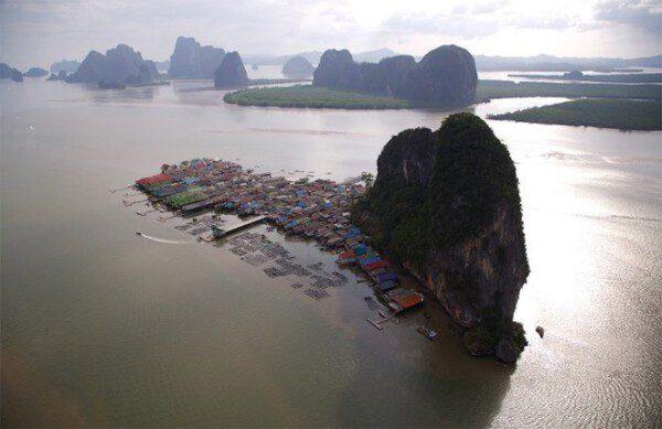 Vista aérea de la isla de Koh Panyee/ Thaigov