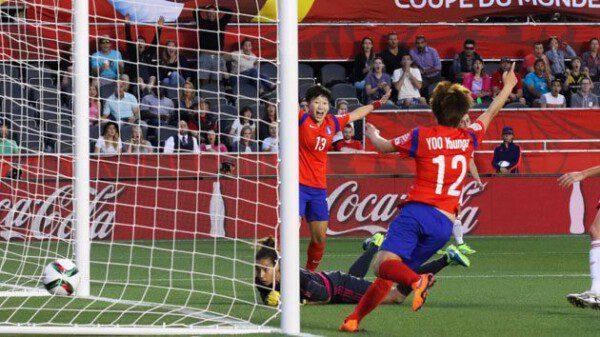 El gol de Soo-yon Kim supuso la puntilla para España/ Getty Images