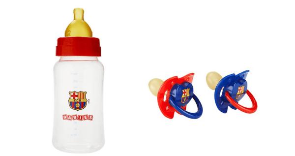 Biberón y chupetes del Barcelona/ FCB
