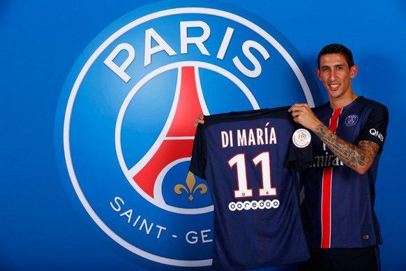Su fichaje por el PSG ha convertido aÁngel Di María en el futbolista más caro/ AFP