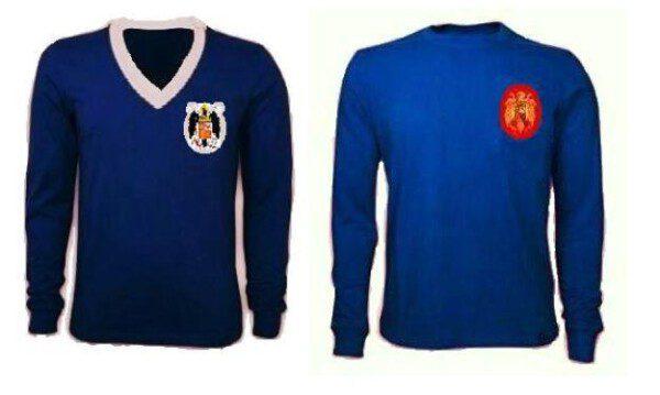 Las camisetas de España de los años 40 y la de la final de la Eurocopa de 1964 fueron azules/ CS