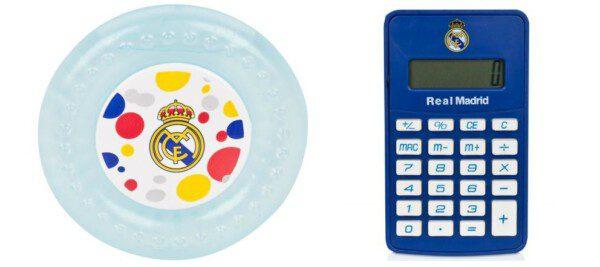 Mordedor para bebés y Calculadora del Real Madrid/ RMCF