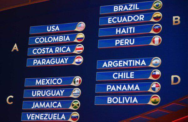 La Copa América Centenario ya ha definido los emparejamientos de la fase de grupos/ CONMEBOL