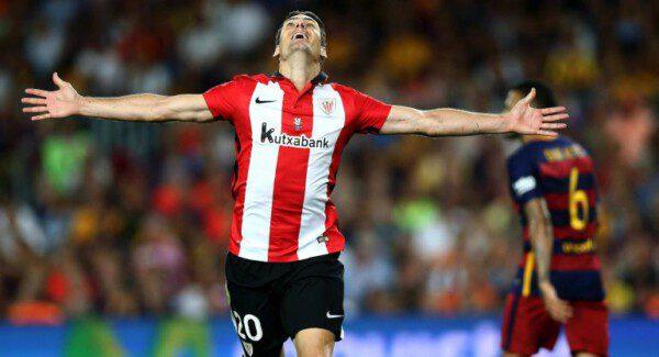 Aduriz es el máximo goleador española de la Liga BBVA / TONI ALBIR (EFE)