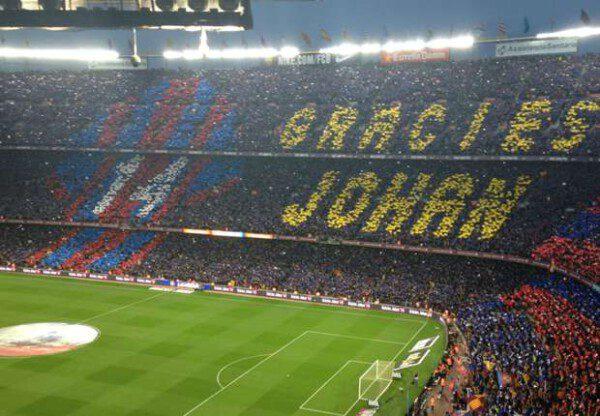 El Camp Nou se volcó en el homenaje póstumo a Cruyff/ Ignasi Oliva