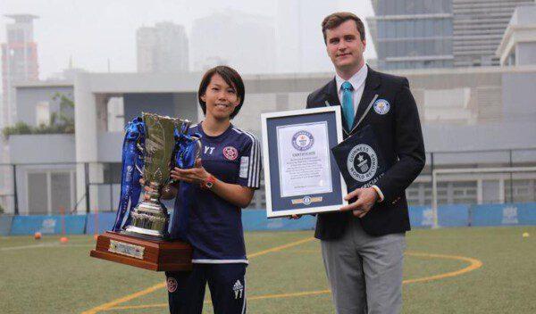 Chan Yuen-ting ha logrado el Récord Guinnes al ser la primera mujer en gana una liga nacional masculina/ WRG