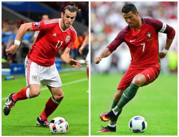 Bale y Cristiano Ronaldo se miden esta noche en las semis de la Euro/ AFP